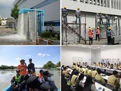 タイの生産拠点での訓練の様子