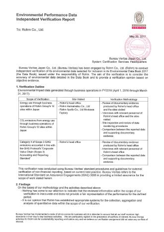Environmental Performance Data Independent Verification Report Image
