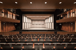The 716-seat South Hall, where the stage and seats are positioned closer together to create a single, integrated space