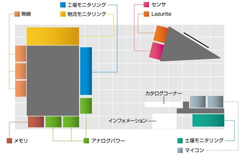 Embedded Technology ブース内マップ