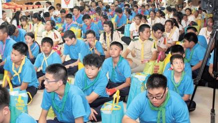 バンコク都内の小学校で開催されたイベントに参加した子どもたちの様子
