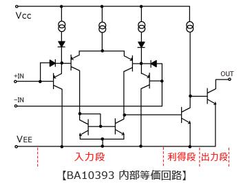 BA10393内部等価回路