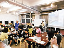 Manufacturing class for elementary school students