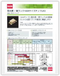 新商品速報 高光度 / 単ランク1608サイズチップLED SML-D15シリーズ